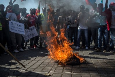 Ethiopia Protests Fires
