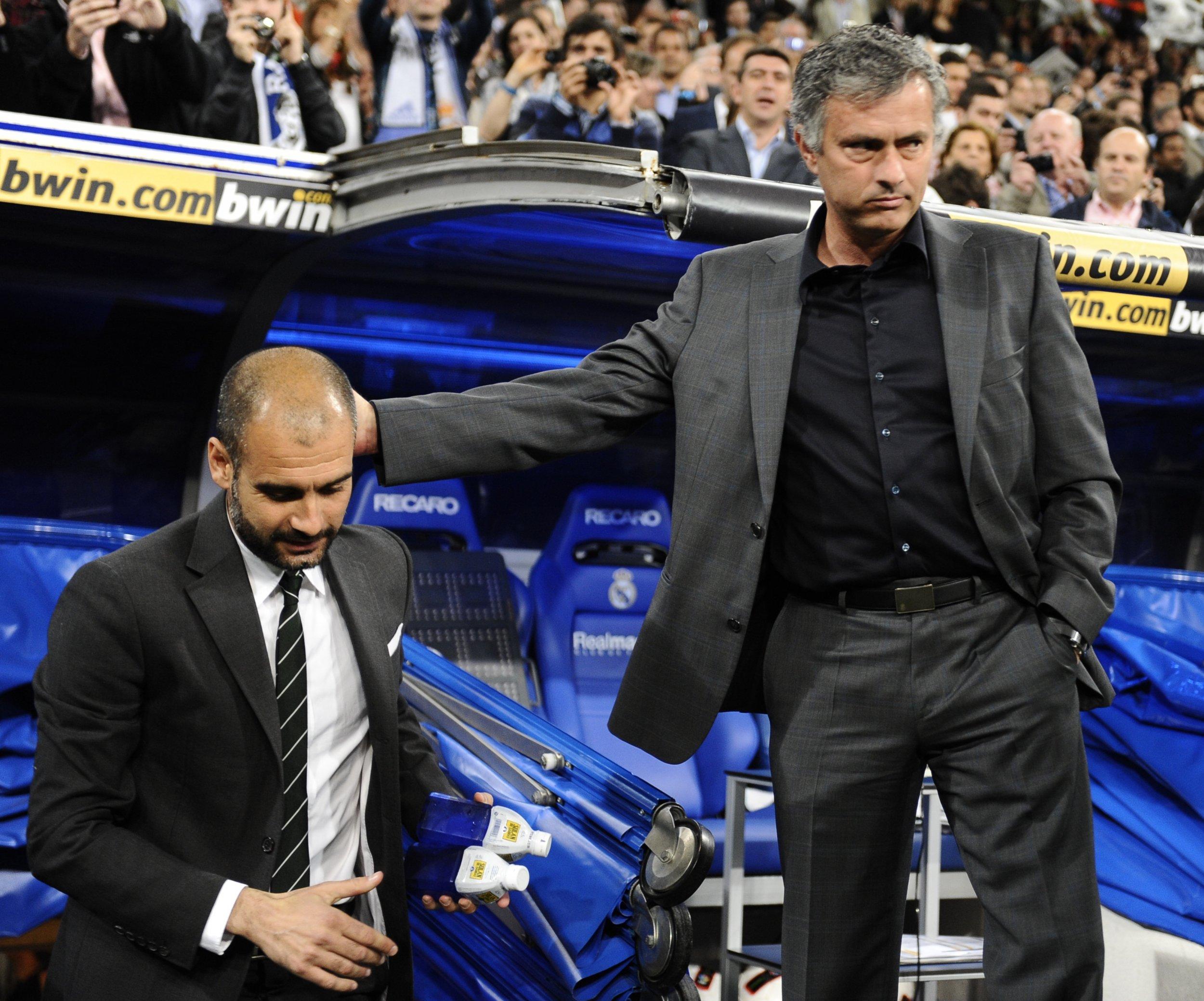 Image result for mourinho guardiola