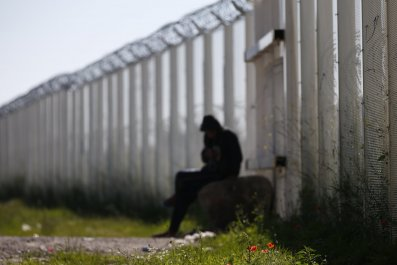 Calais Migrant Fence Wall