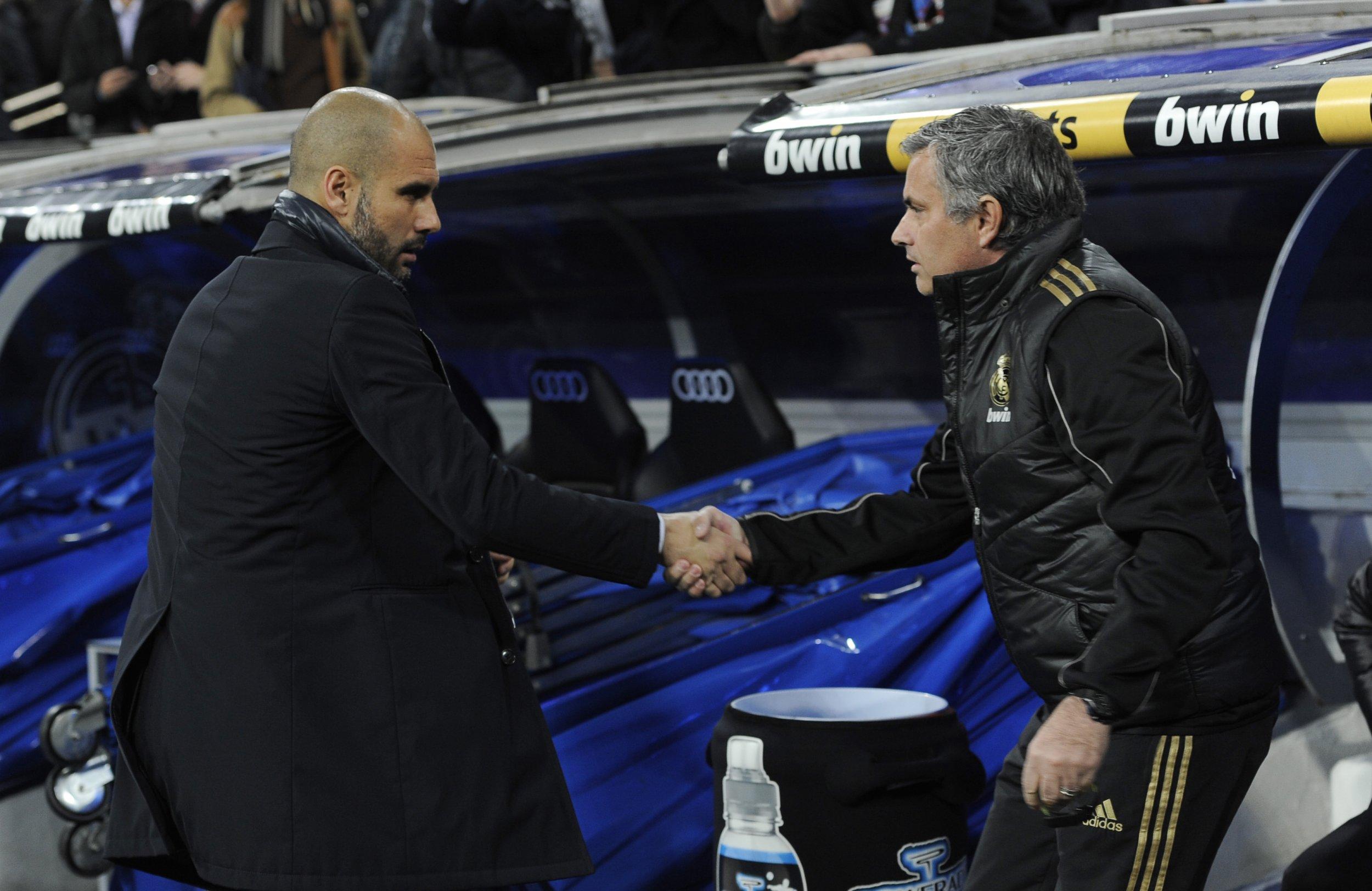 Jose Mourinho, right, and Pep Guardiola