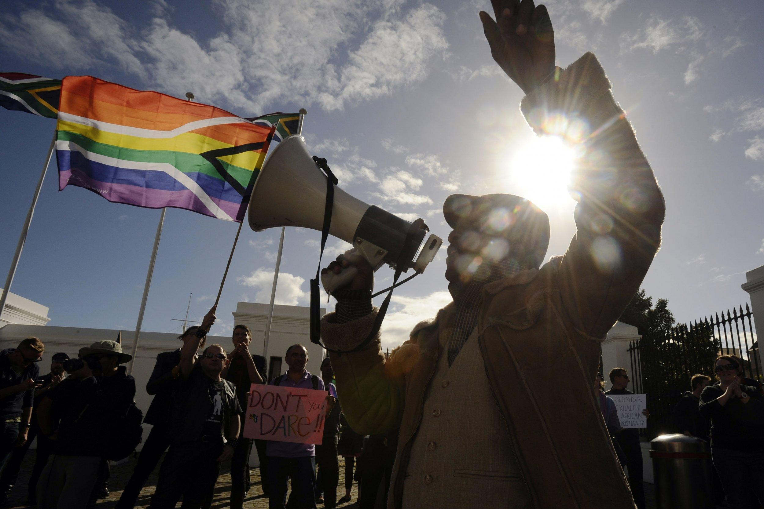 South Africa rainbow flag