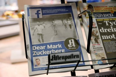Facebook Napalm Photo Newsaper