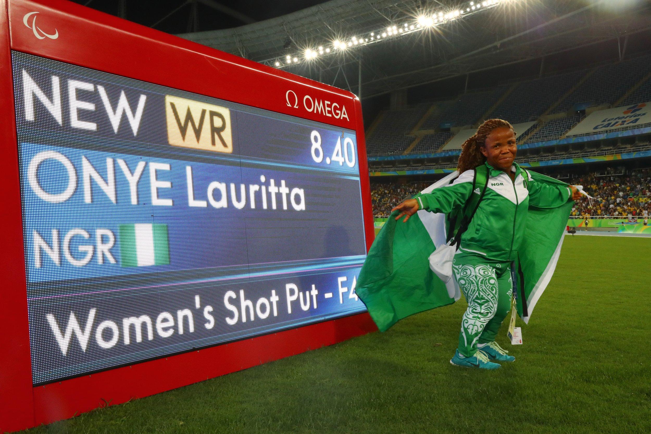 Nigeria Paralympian Lauritta Onye