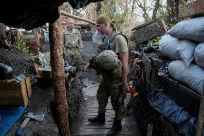 Ukrainian serviceman