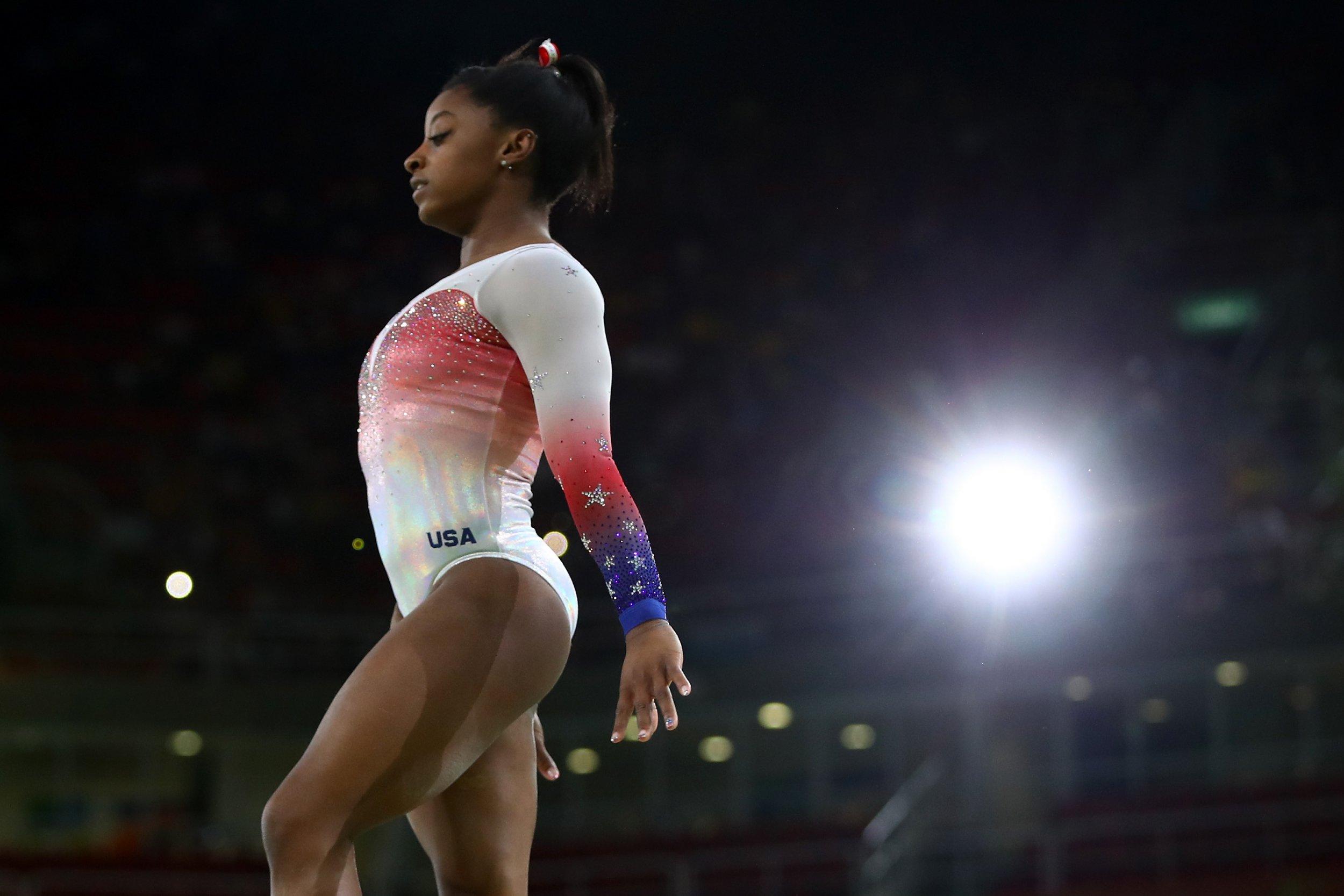 US gymnast Simone Biles.