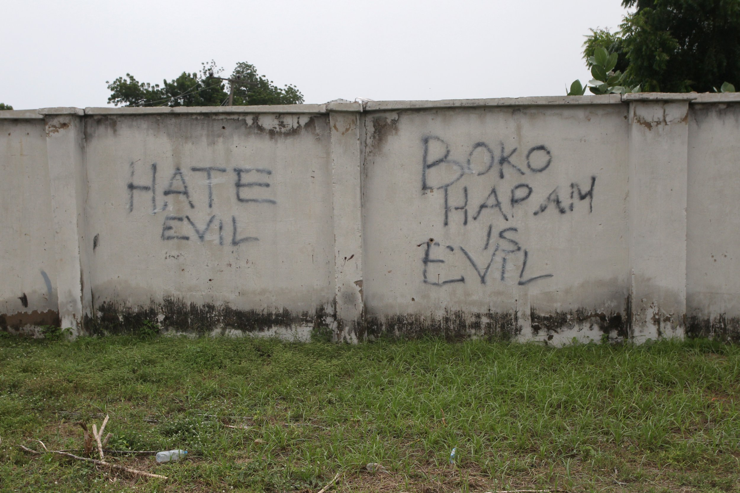 Anti-Boko Haram graffiti