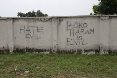 Anti-Boko Haram graffiti