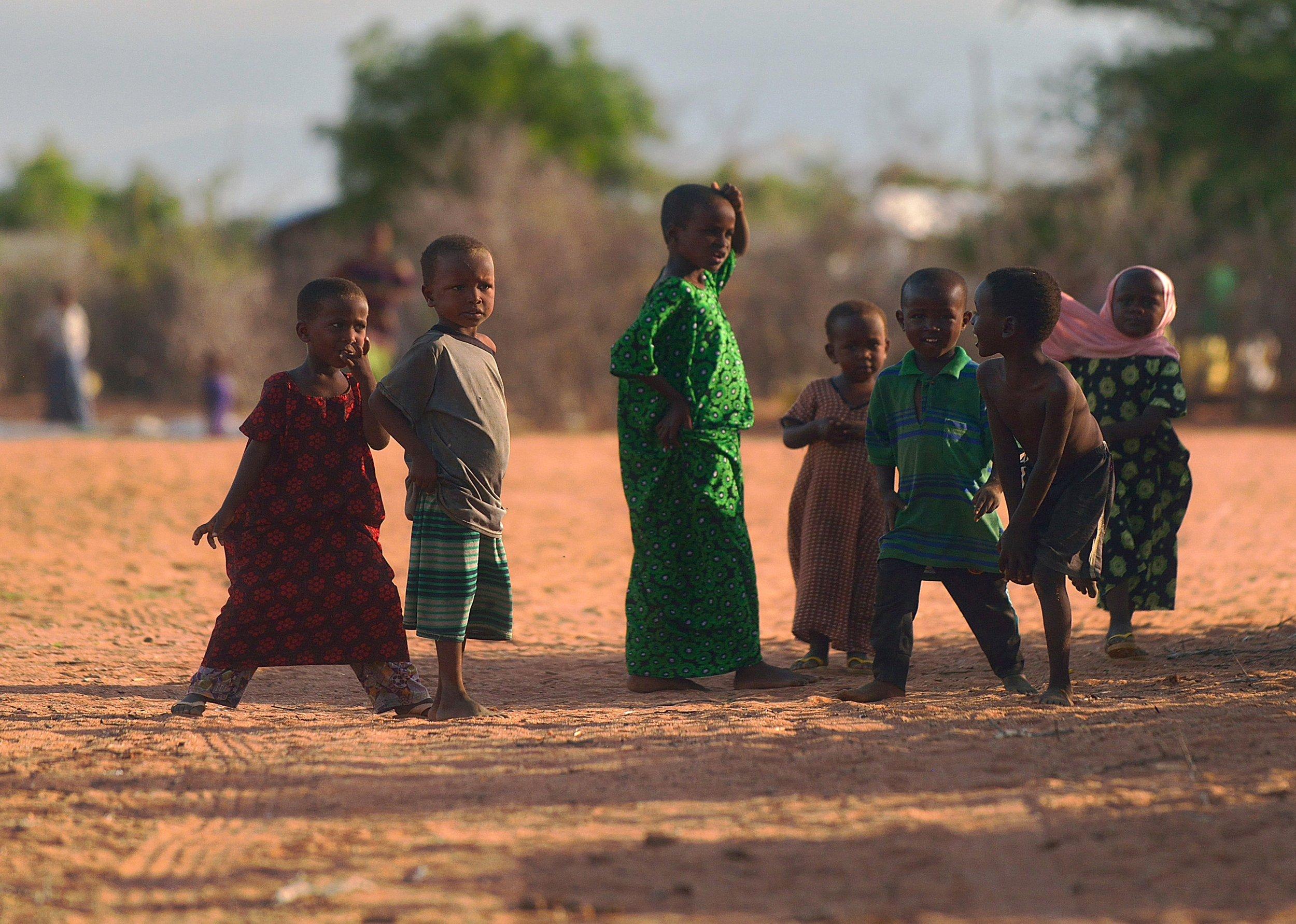 Somali refugee children in Dadaab