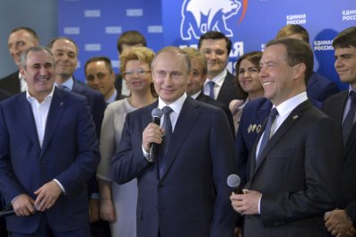 Putin, Medvedev and United Russia
