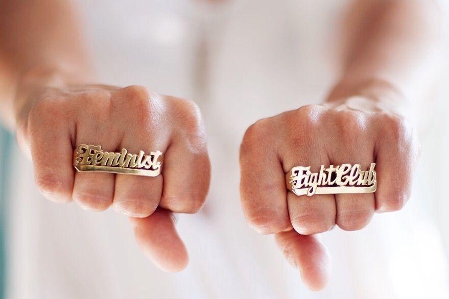 Feminist fight club jewelry