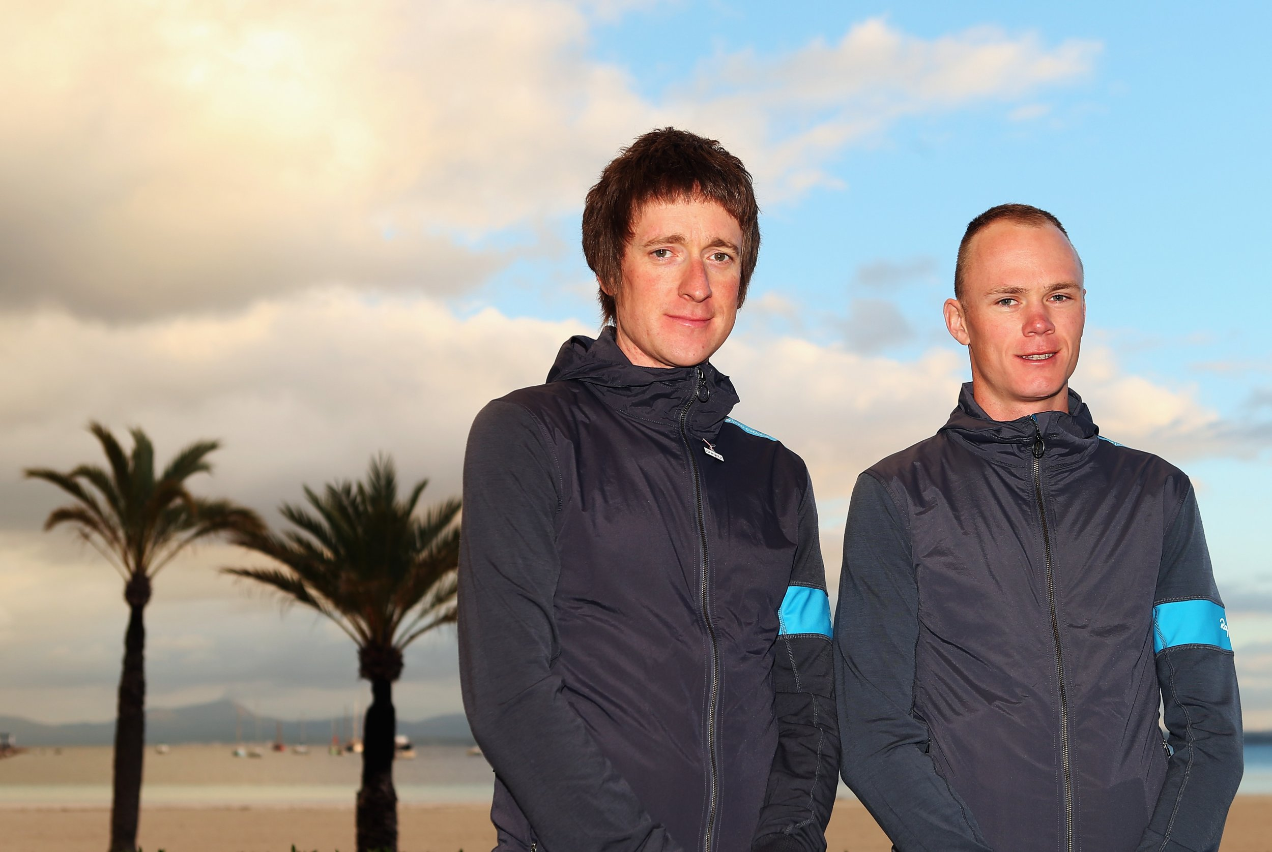 Bradley Wiggins, left, with Chris Froome.