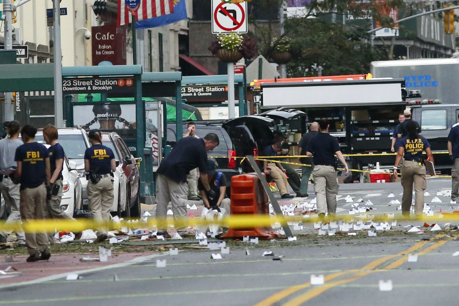 Site of New York bomb blast in Manhattan