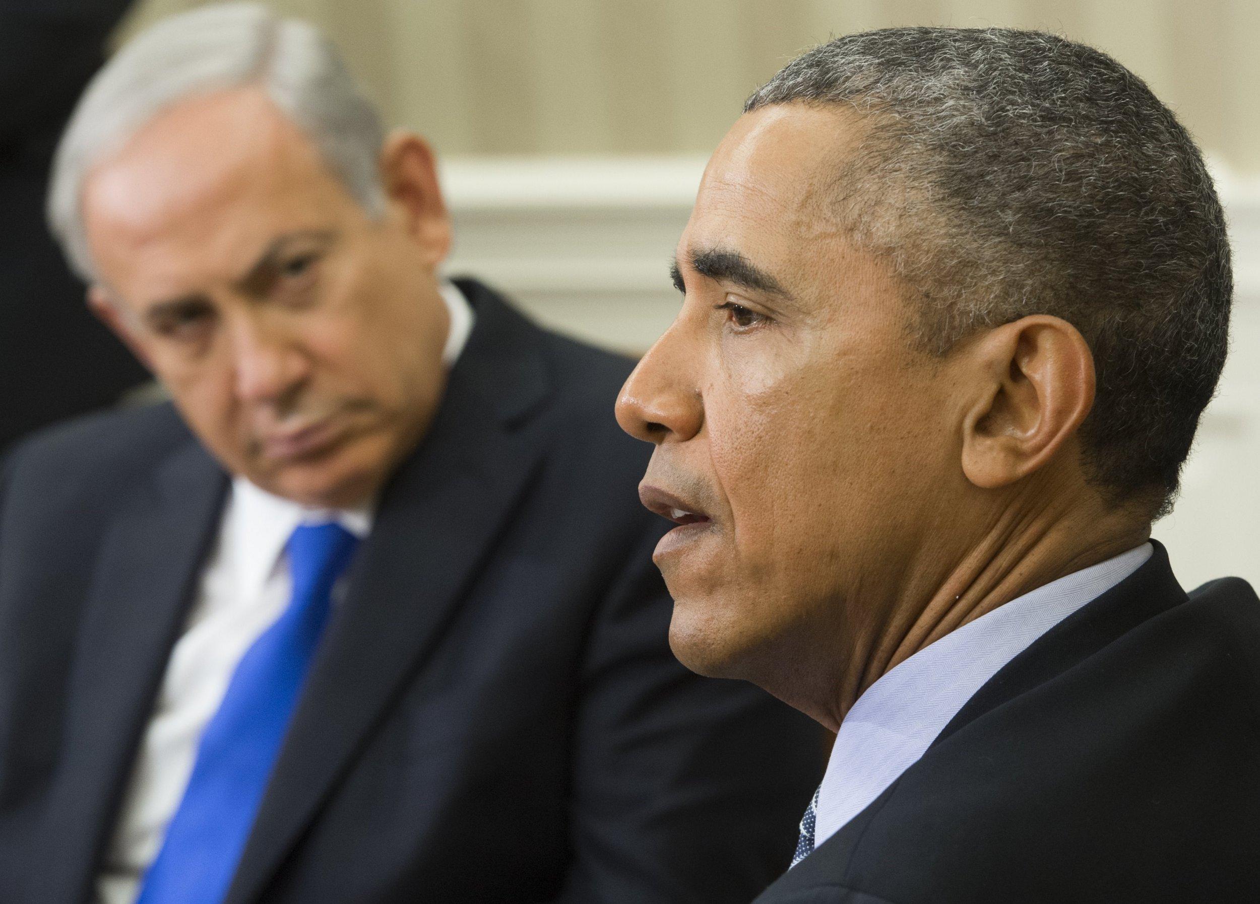 U.S. President Barack Obama and Israeli Prime Minister Benjamin Netanyahu
