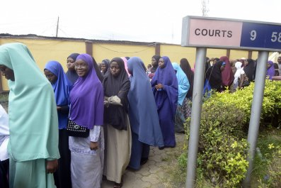 Nigerian students with hijabs