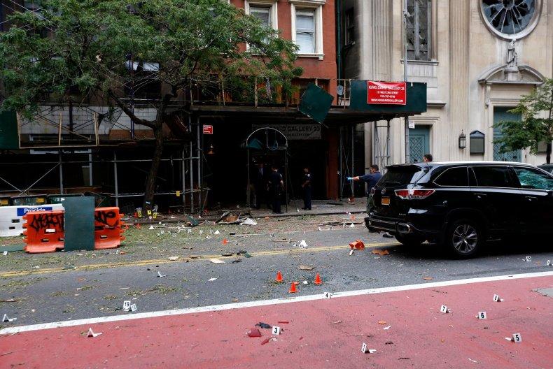 Chelsea explosion site