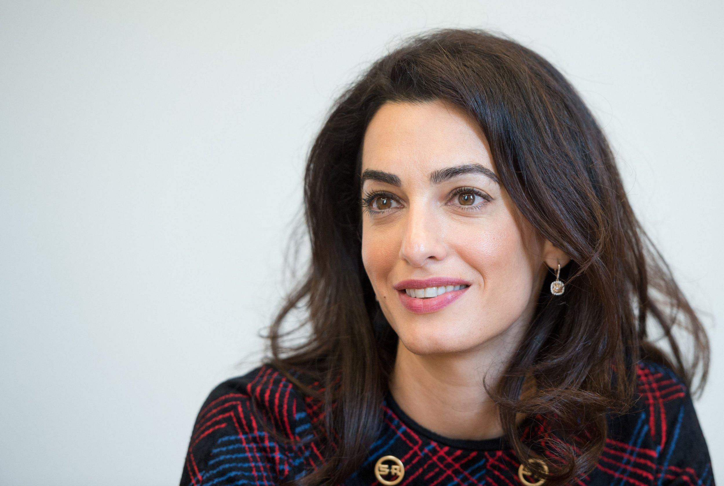 Amal Clooney talks about plight of Yazidis