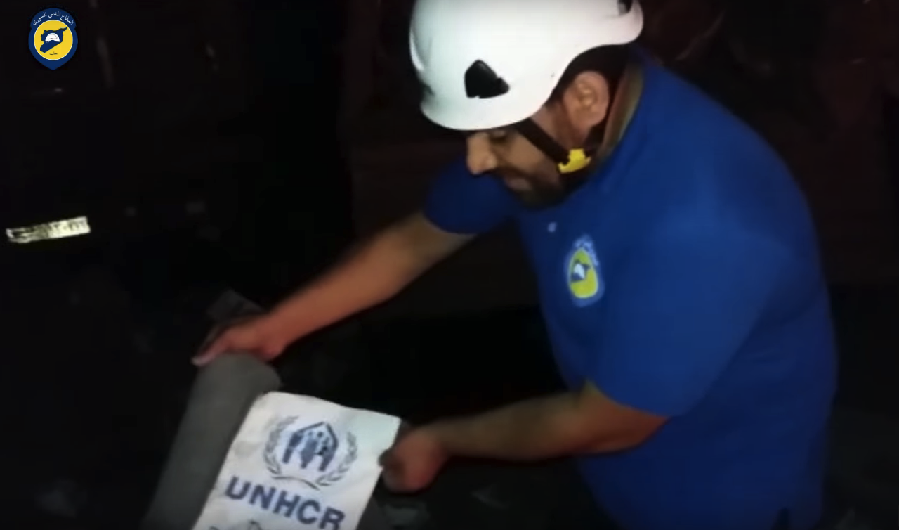 White Helmets after Syria aid convoy attack
