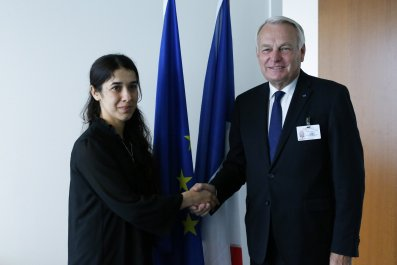 Nadia Murad meets French Foreign Minister
