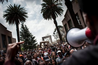 South Africa students protest