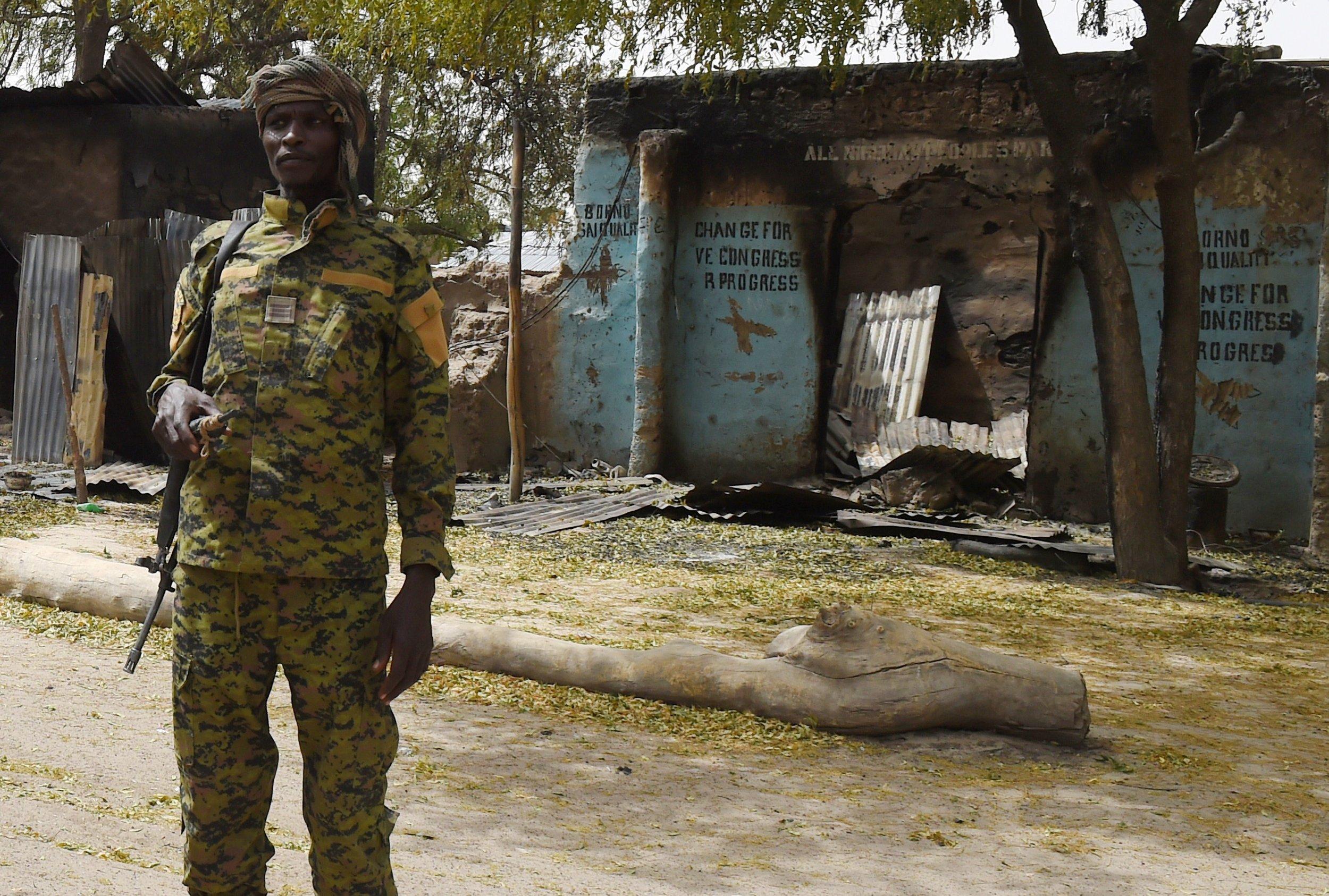 Nigerian Soldier in Malam Fatori
