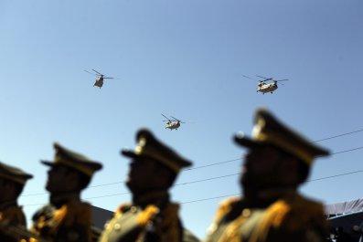 Iranian military parade in Tehran