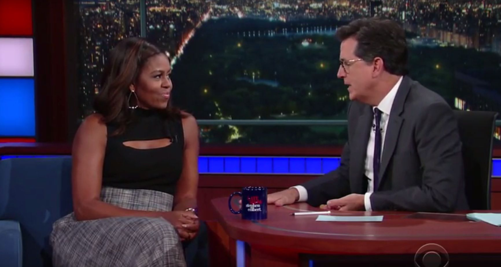Michelle Obama on The Late Show