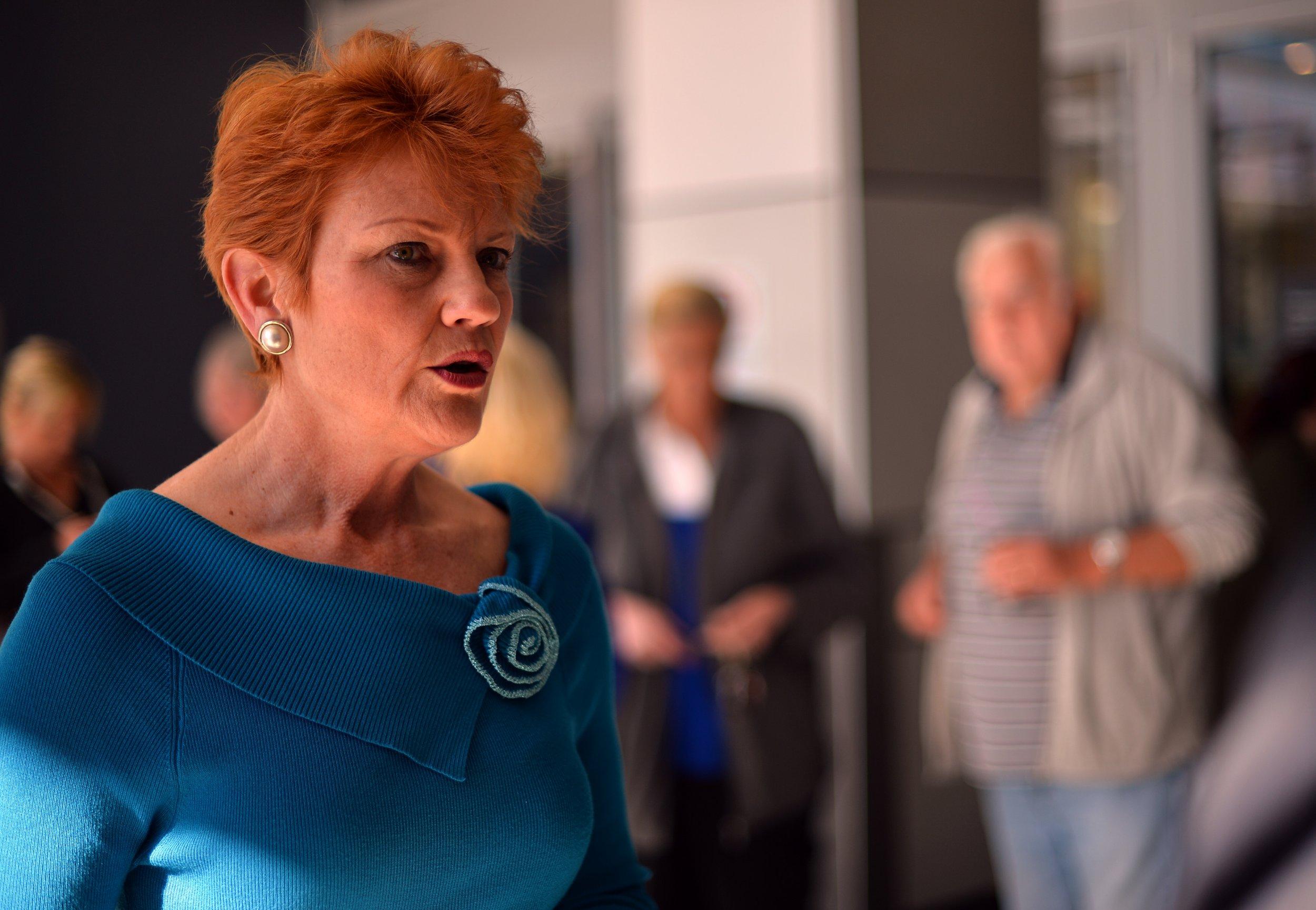 Australia's One Nation leader Pauline Hanson