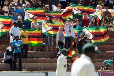 Zimbabwe flag cricket match