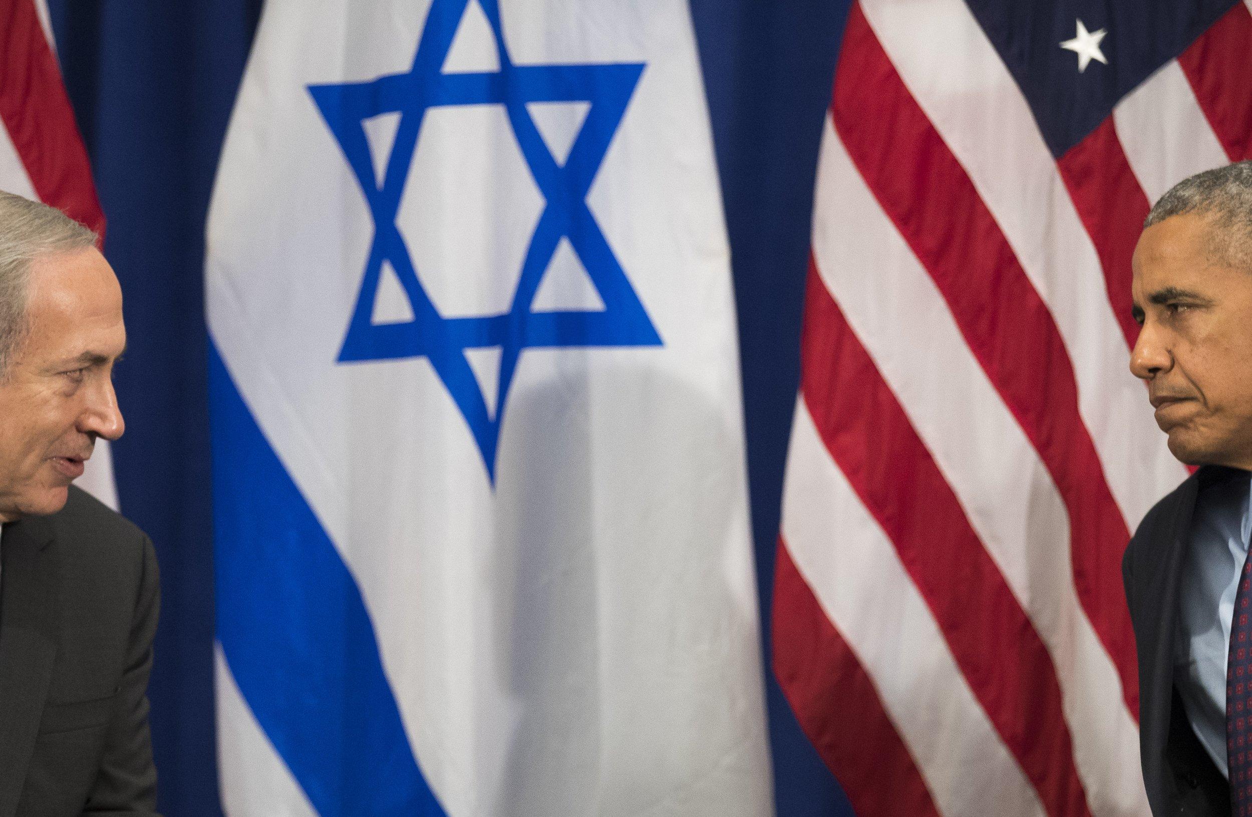 Israeli Prime Minister Benjamin Netanyahu and Barack Obama