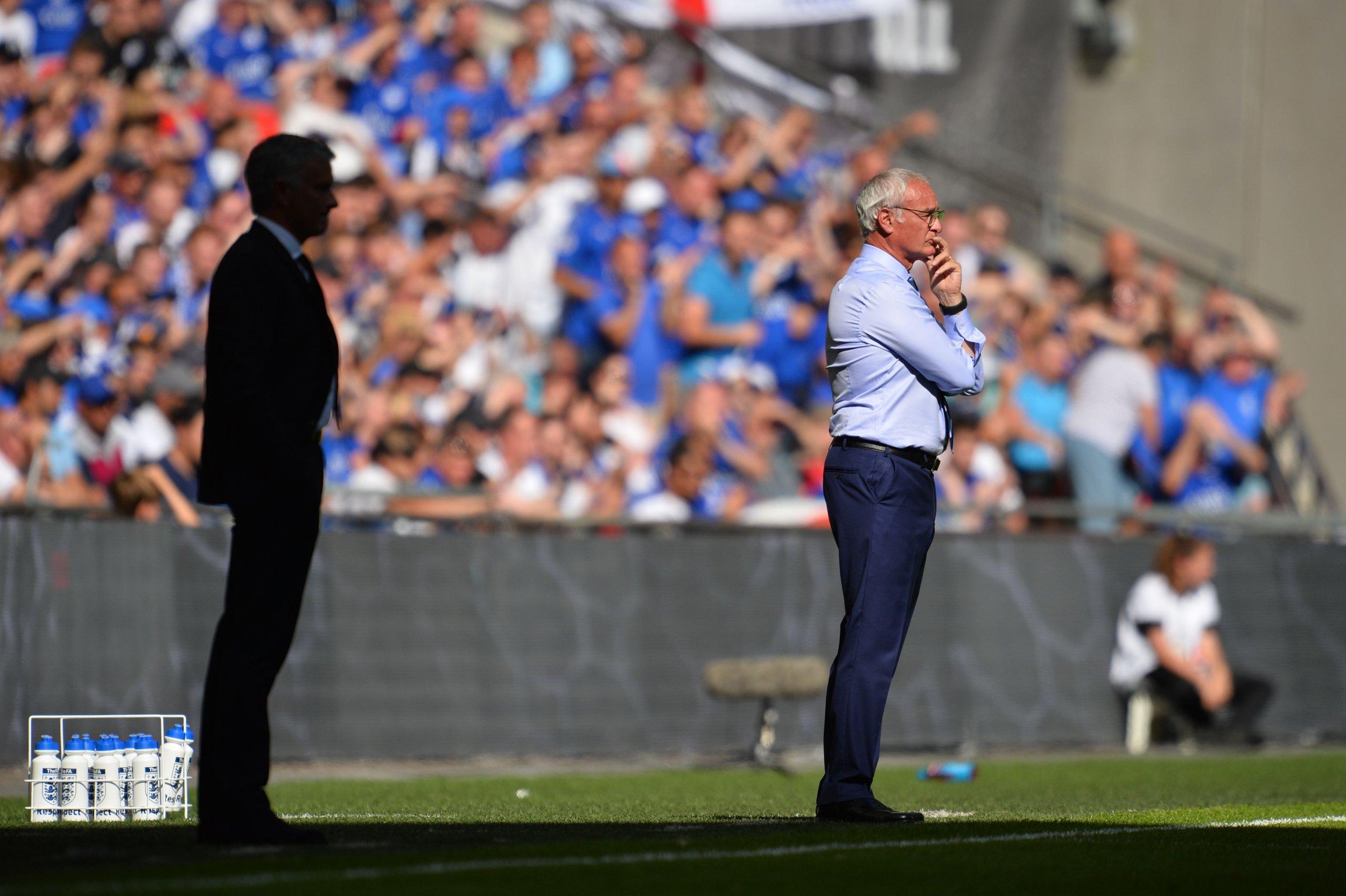 Jose Mourinho, left, with Claudio Ranieri.