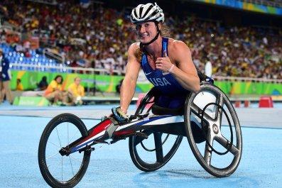 US Paralympian Tatyana McFadden.