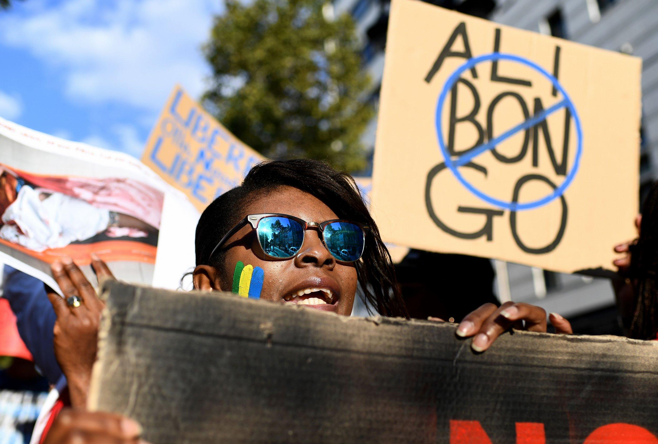 Gabonese protest in Marseille