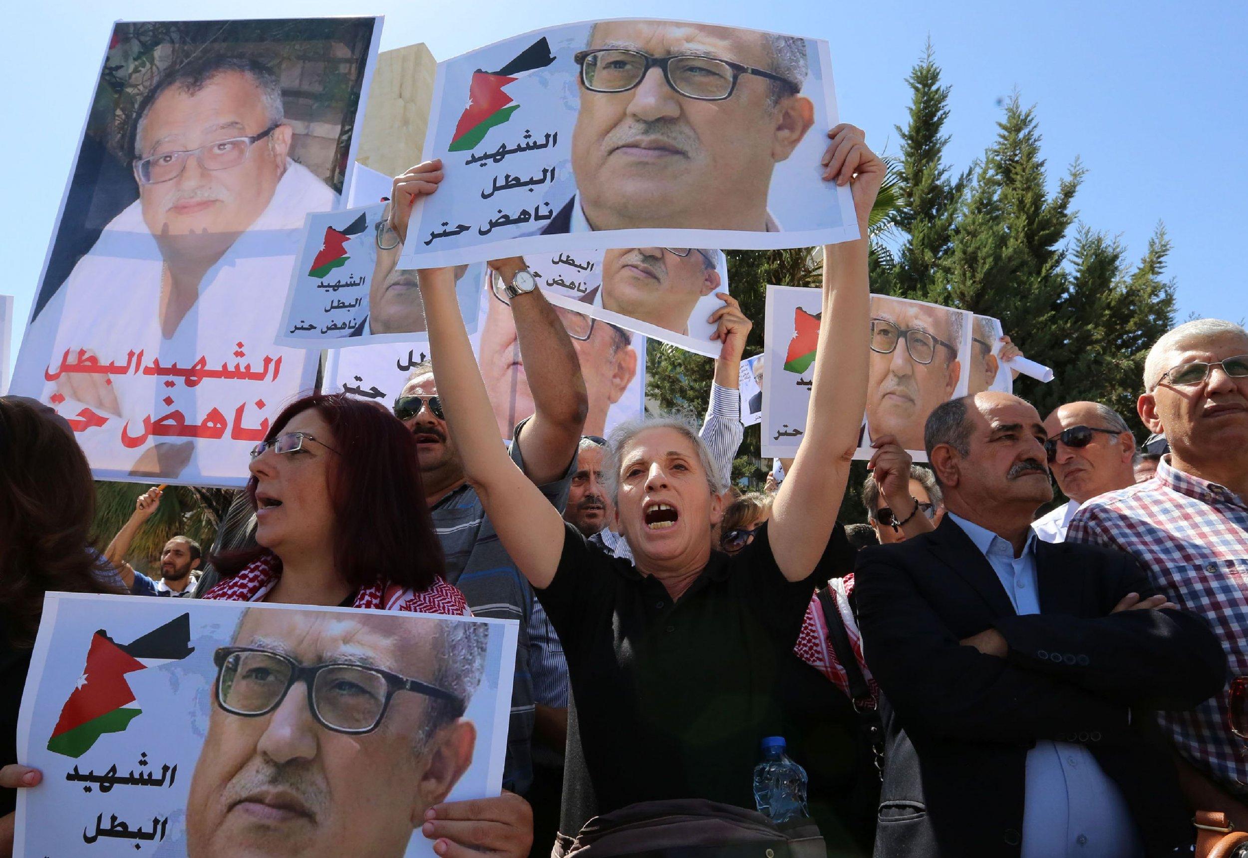 Jordanians protest the death of Nahed Hattar