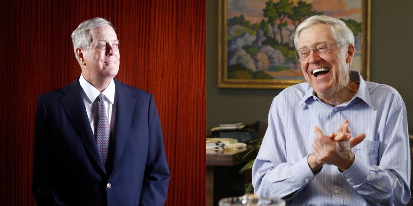 Charles David Koch We Know Who You Are >> How Charles And David Koch Plan To Remake The Republican Party