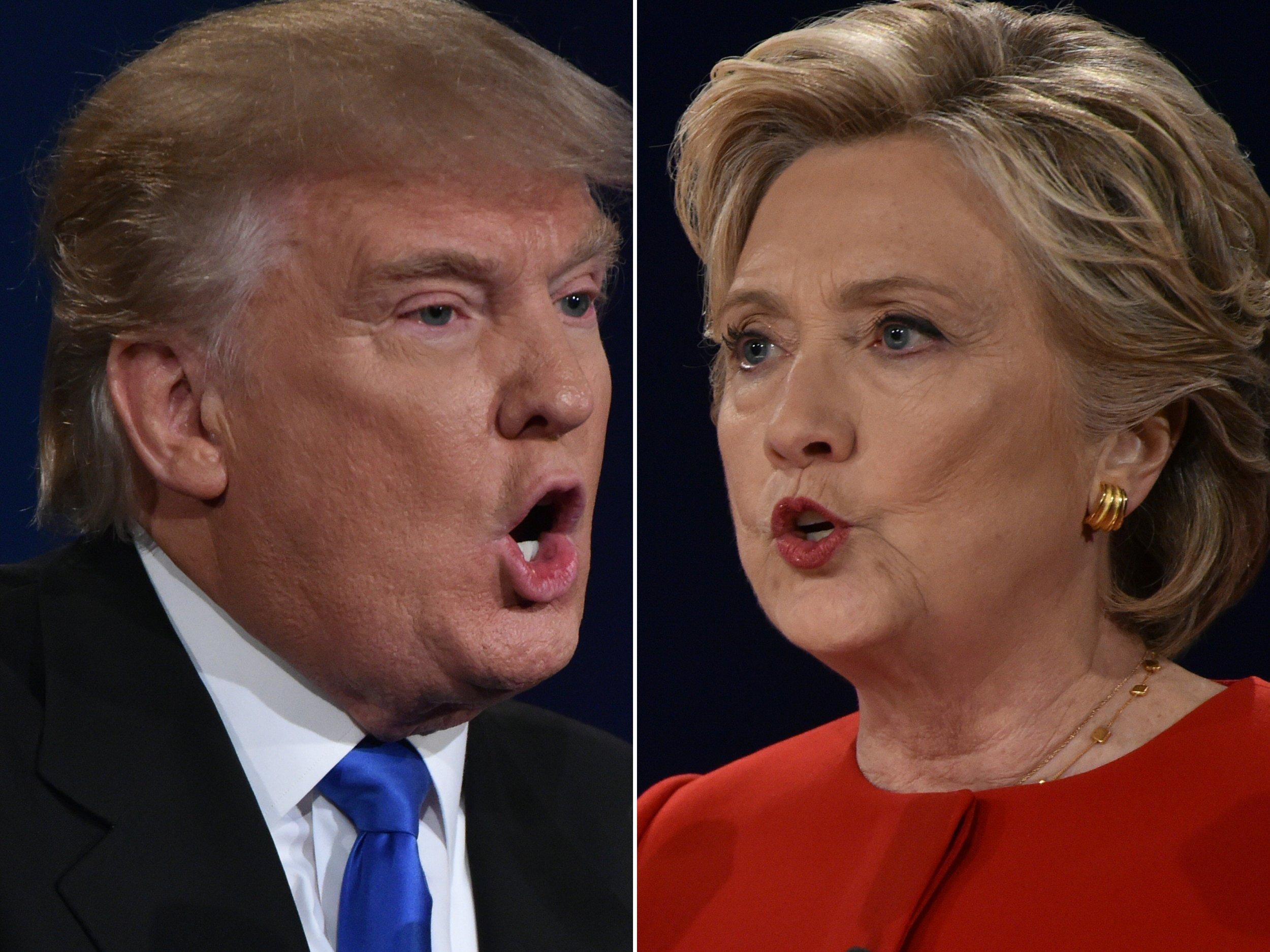 Clinton v Trump debate