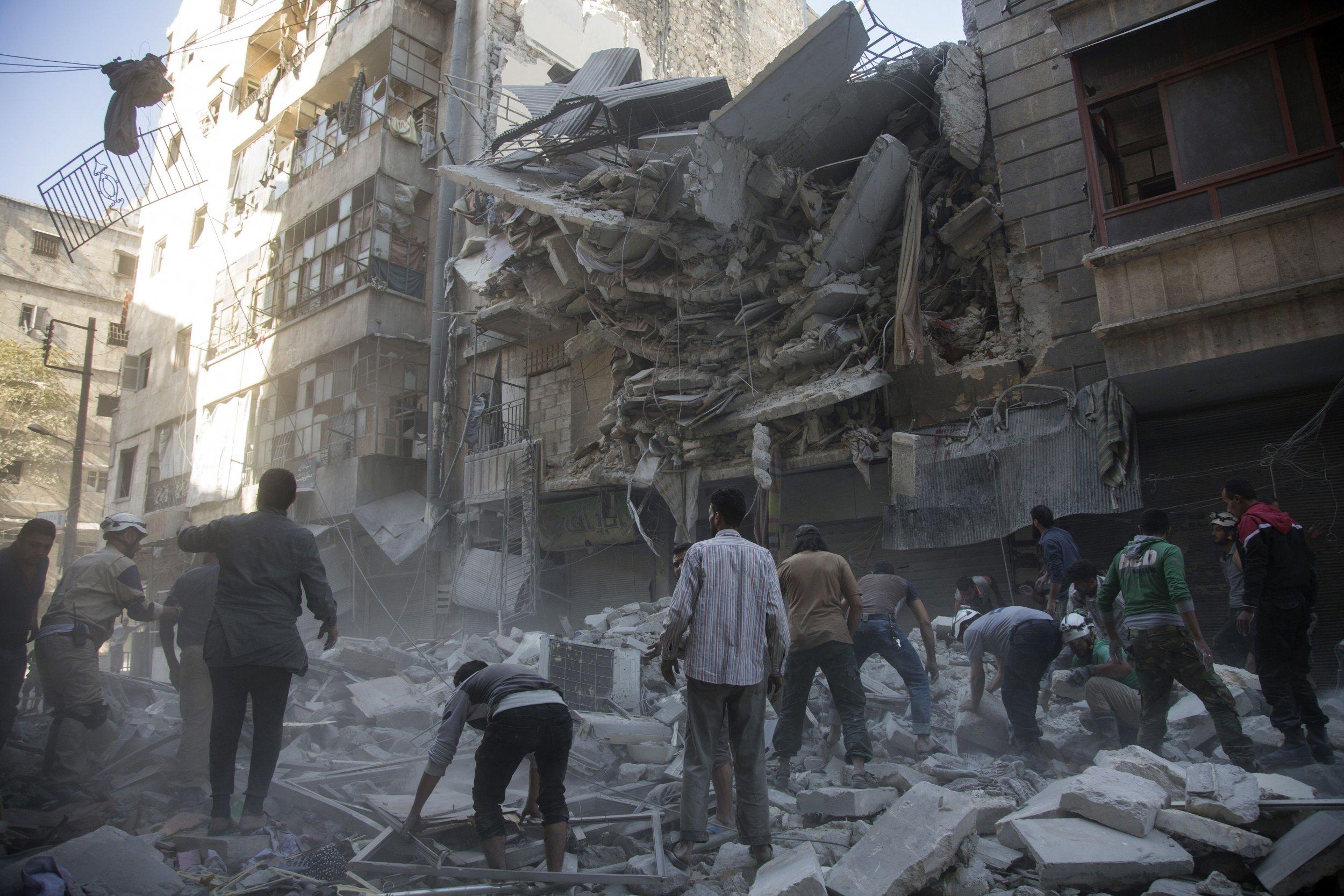 Aleppo air strikes