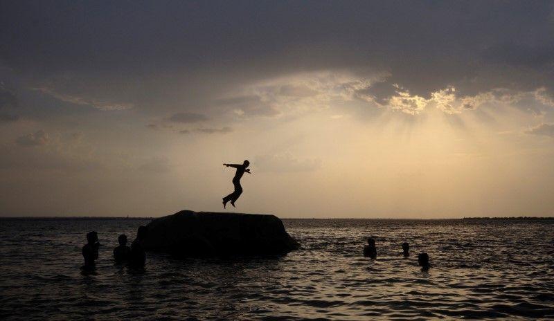 Osman Sagar Lake near Hyderabad, India