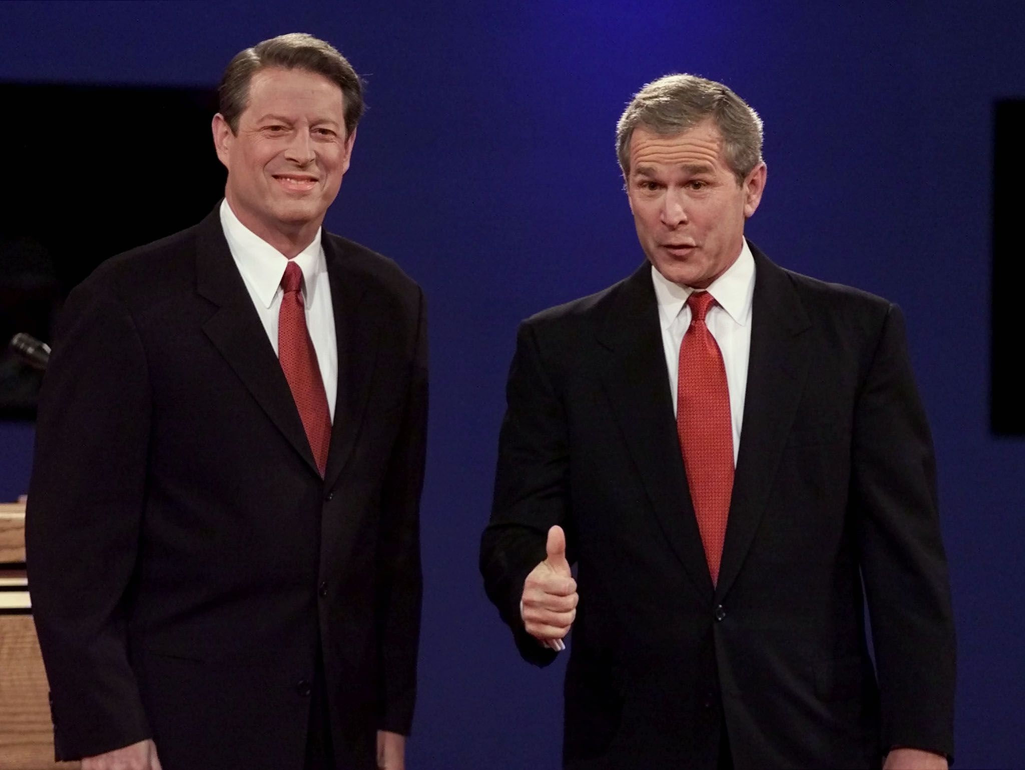 a comparison of presidential debates between bush and gore Examined carefully, the similarities between the two political parties do not  to  the commentary following the upcoming bush/gore debates.
