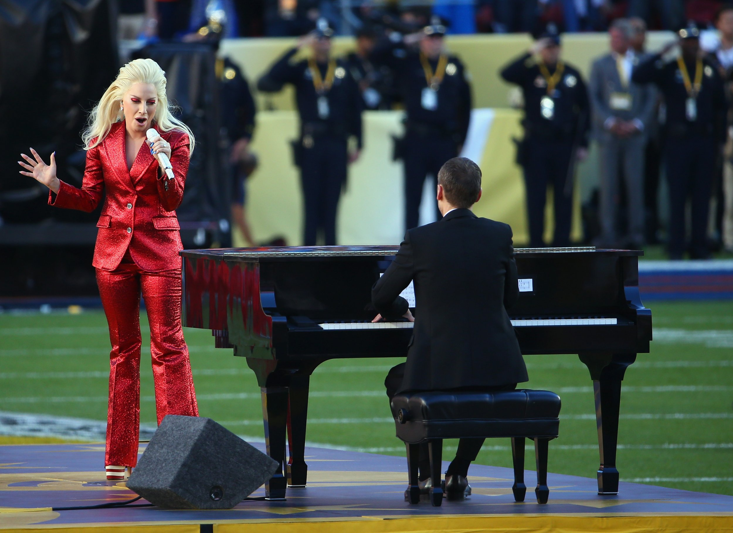 Lady Gaga at the Super Bowl