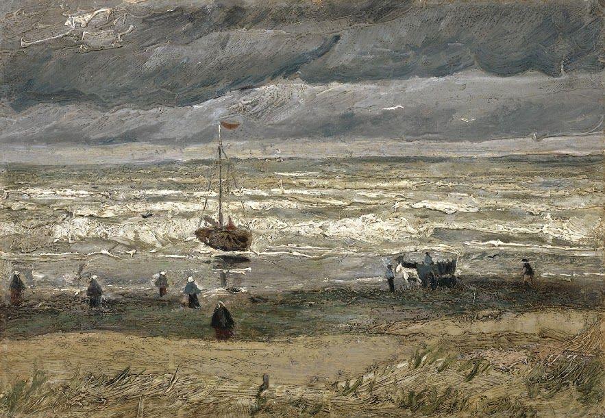 Vincent van Gogh, View of the Sea at Scheveningen, 1882