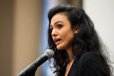 Riddhi Jha speaks at the Censored Women's Film Festival