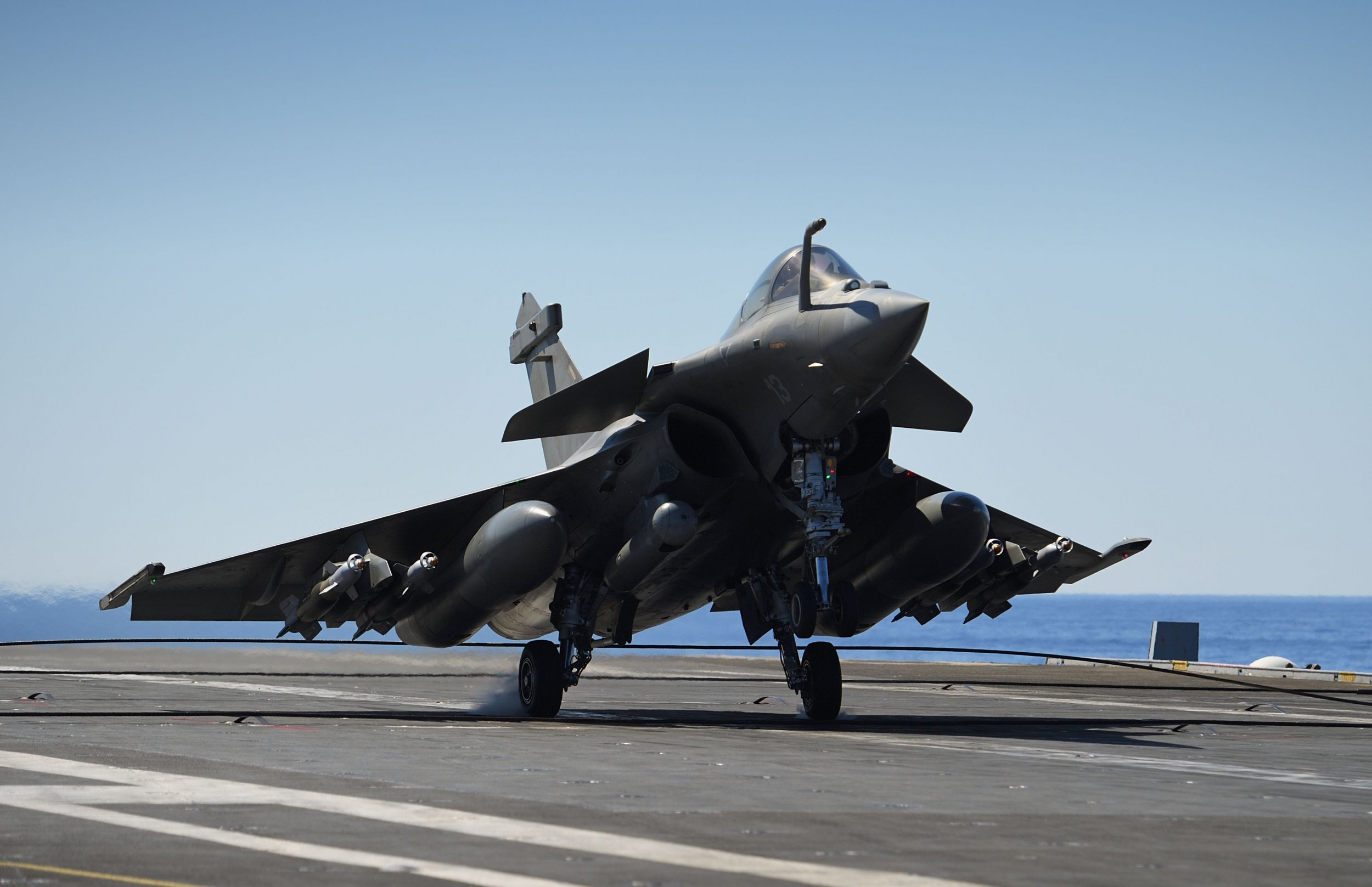 French aircraft taking off for Mosul strikes