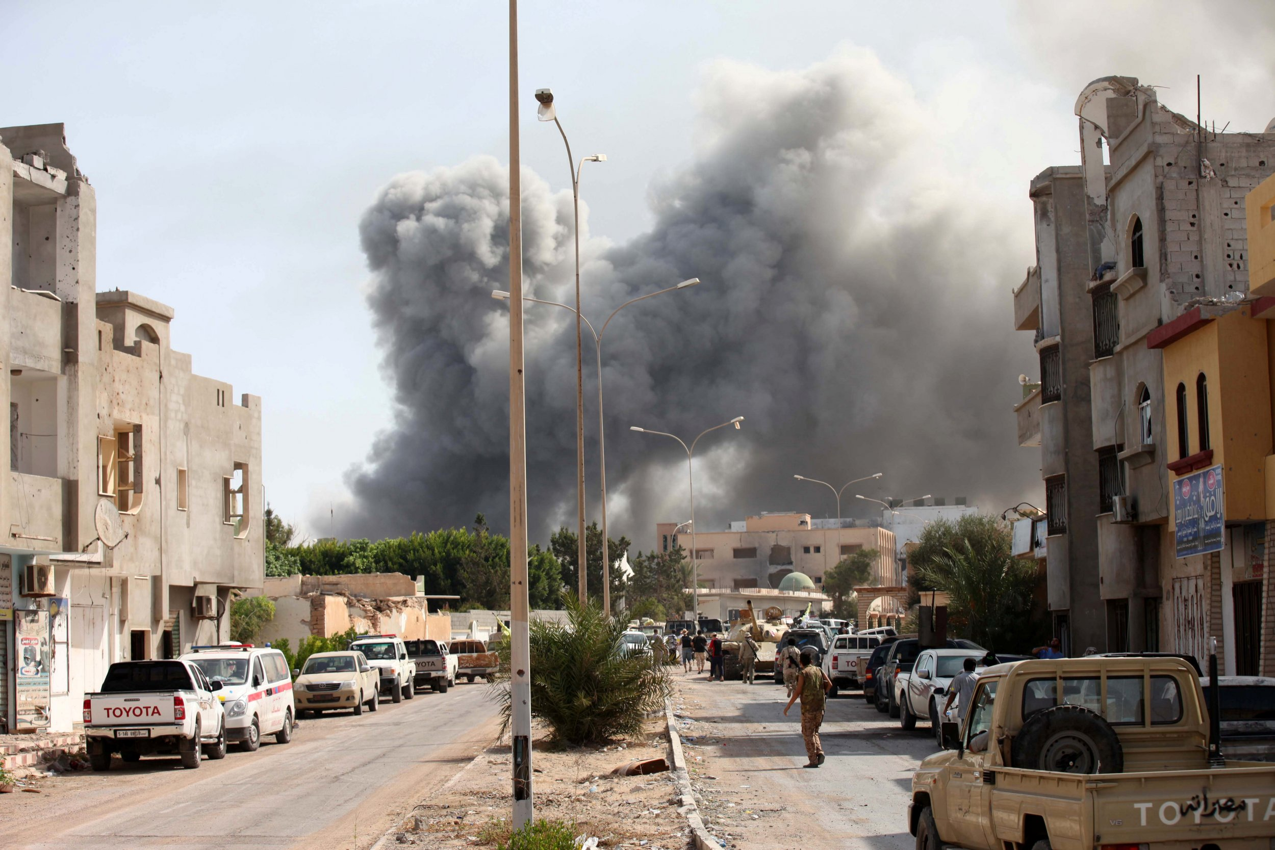 Clashes in Libya's Sirte