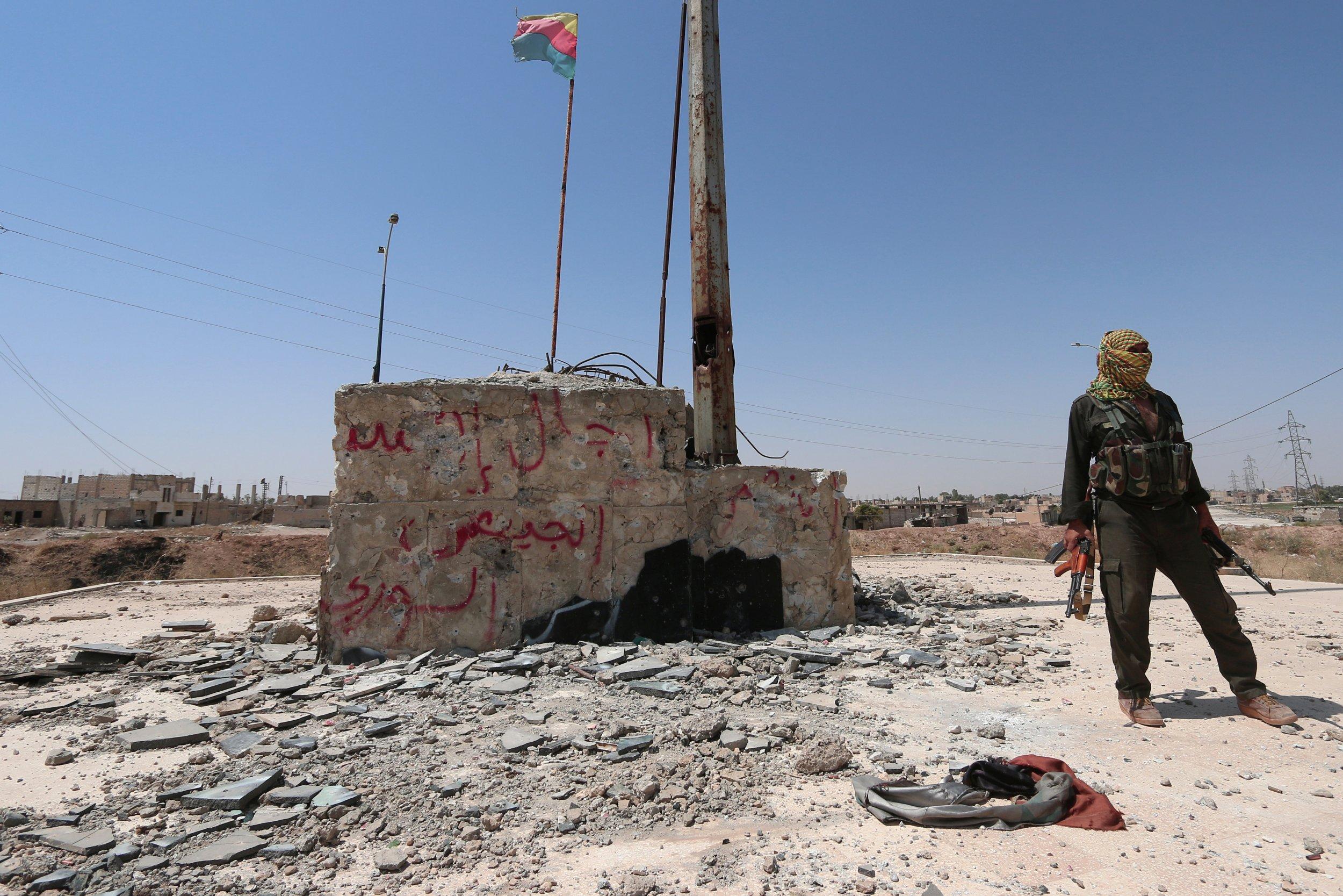 Kurdish fighter in Hasakah