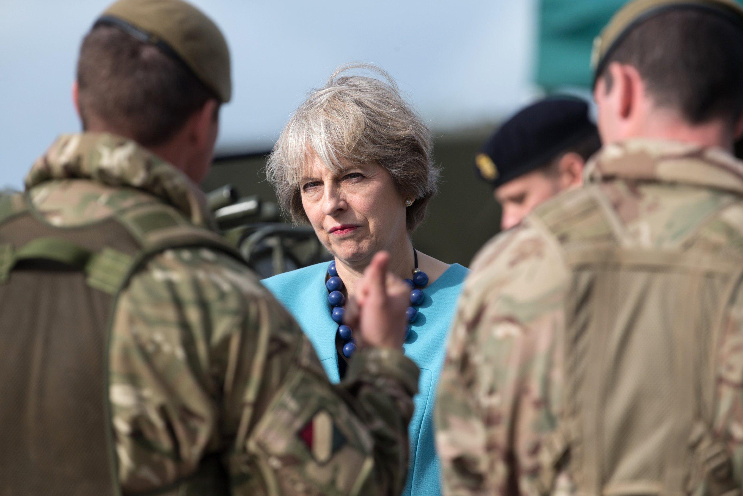 Theresa May soldiers