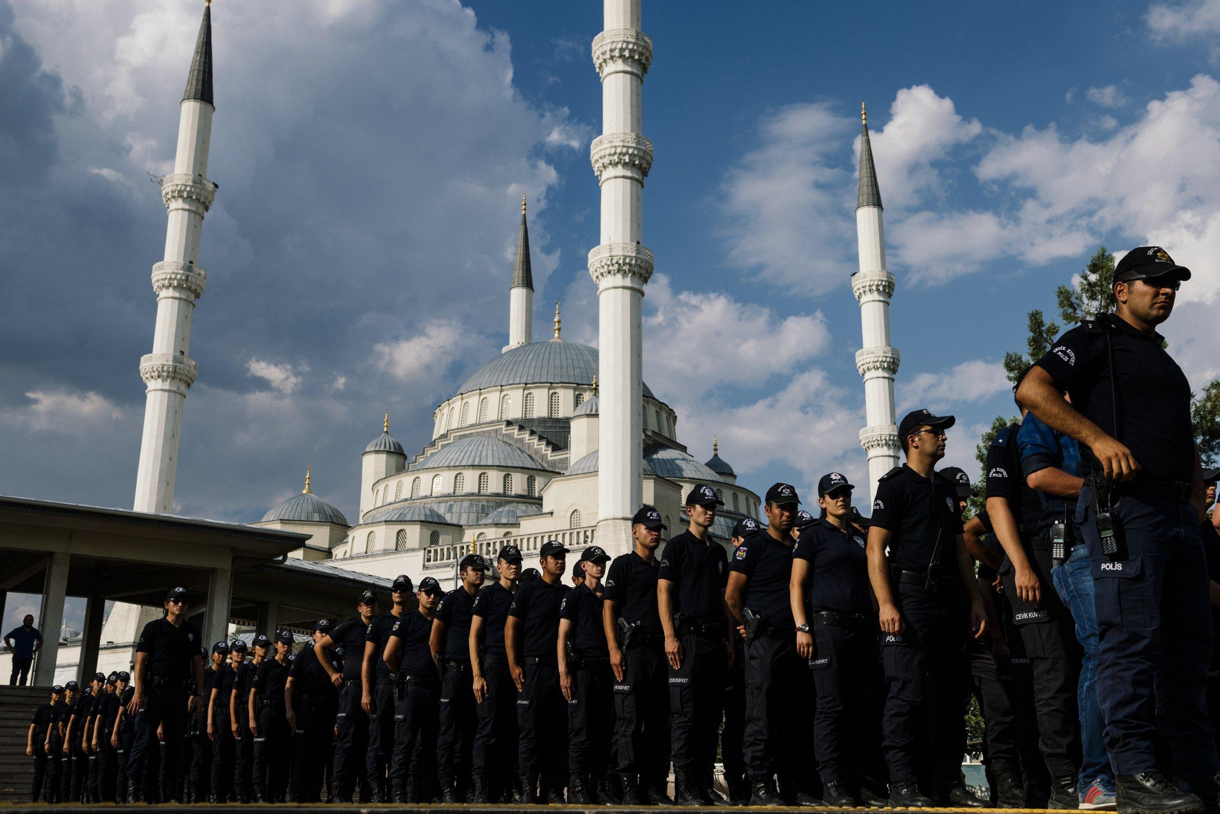 Turkish police in Ankara