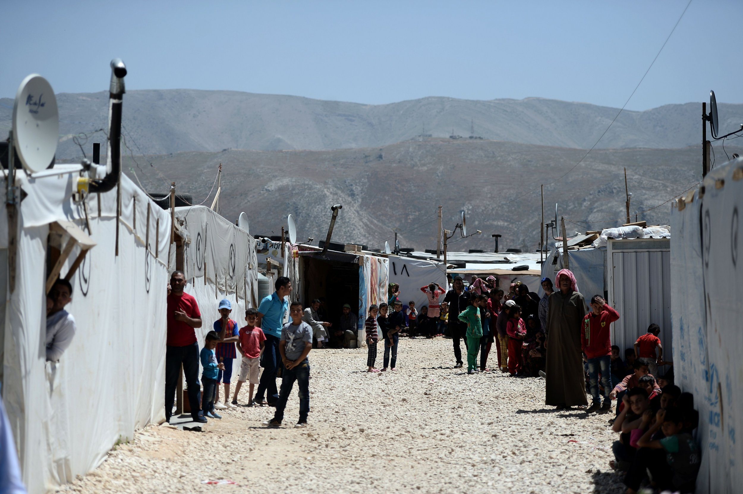 Refugee camp in Lebanon's Bekaa Valley
