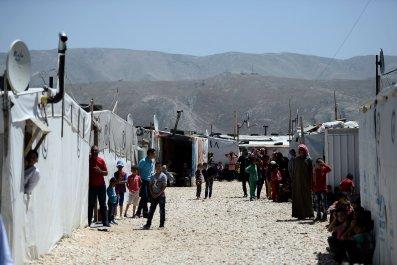 Refugee camp in Lebanon's Bekaa Valley