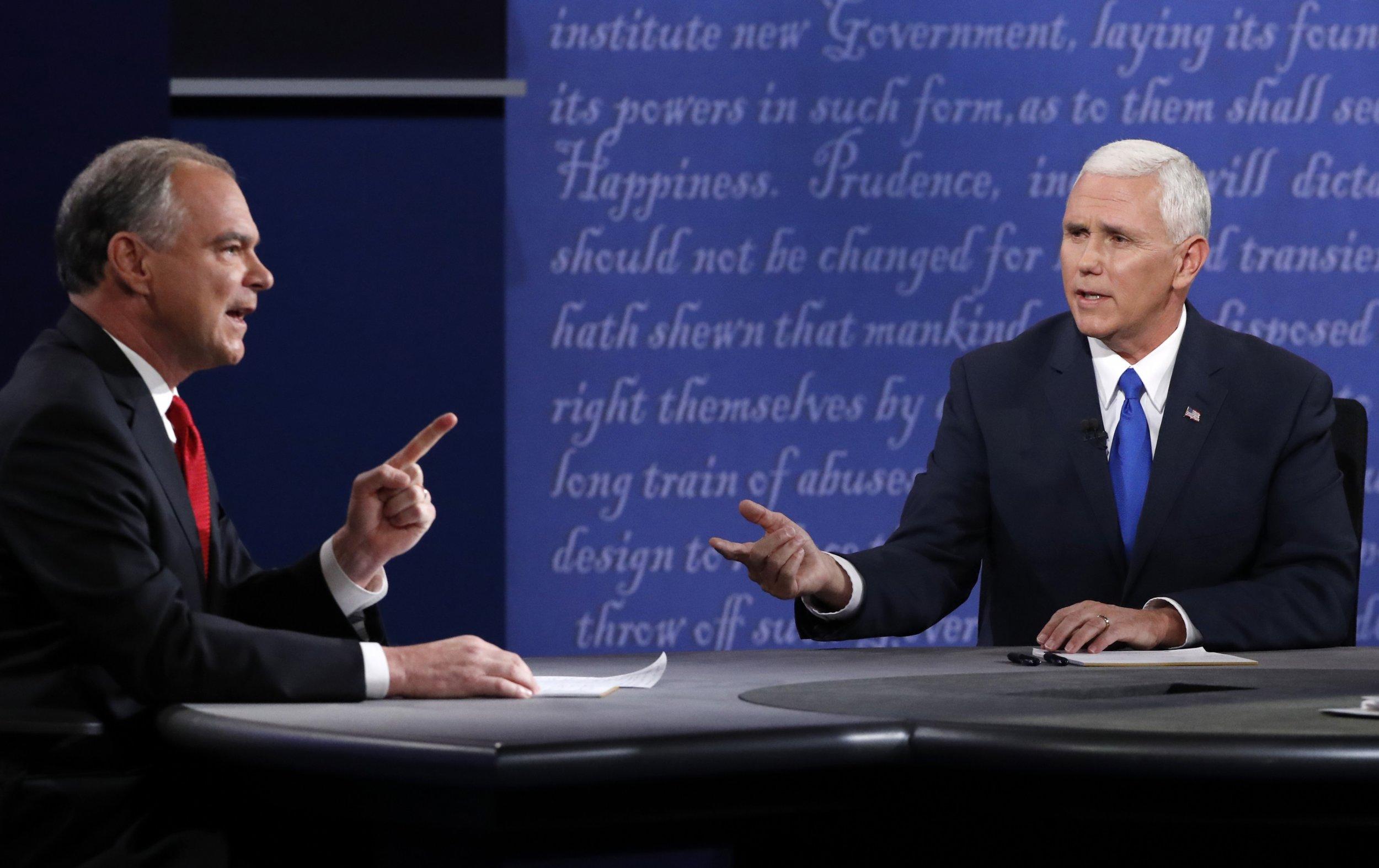 Tim Kaine and Mike Pence debate
