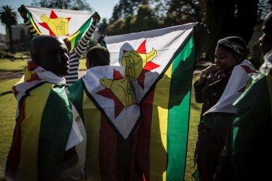 Zimbabwe protesters Pretoria